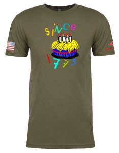 CRAYON BDAY Since 1775 (OD OR CHARCOAL GRAY)