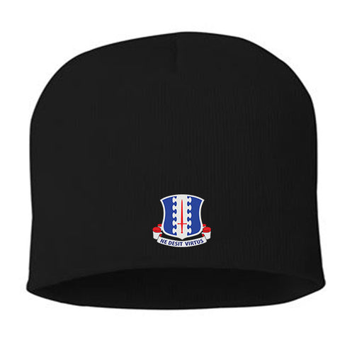 Image of Custom Embroidered 187th Infantry Crest Knit Beanie