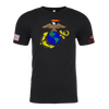 EAGLE GLOBE ANCHOR -Crayon Shirt (OD OR CHARCOAL GRAY)