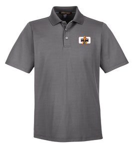 G4G Performance-Fit Polo -Graphite/White