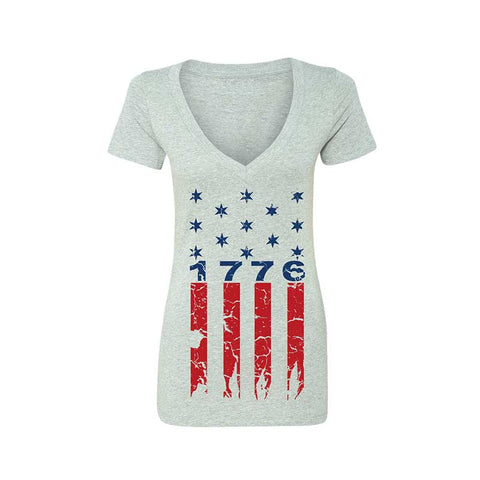 1776 STARS 'N BARS WOMEN'S DEEP V-NECK