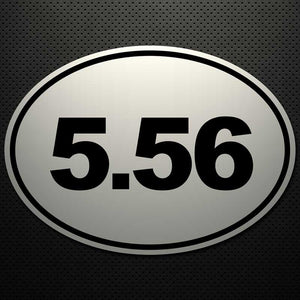 5.56 OVAL CUT DECAL