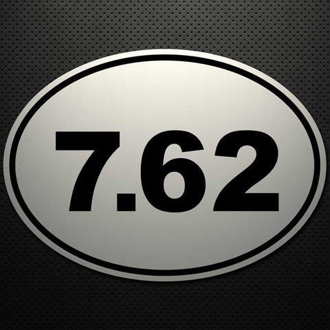 7.62 OVAL CUT DECAL