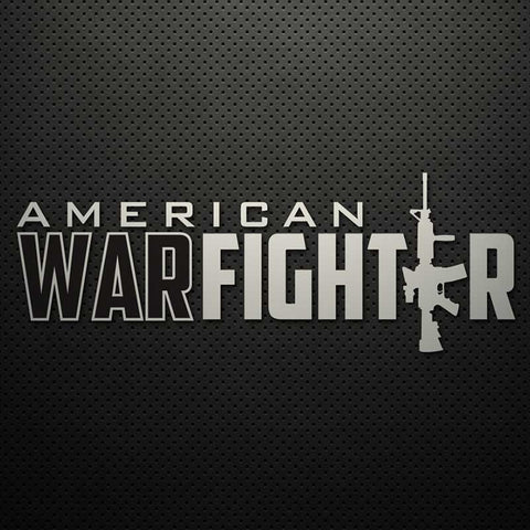 "9"" AMERICAN WARFIGHTER DECAL (M4)"