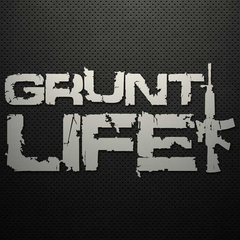 GRUNT LIFE (STACKED) DECAL