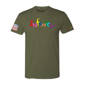 INFANTRY-Crayon Shirt (OD OR CHARCOAL GRAY)