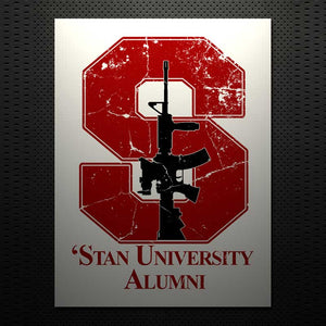 'STAN UNIVERSITY ALUMNI DECAL