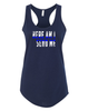 G4G Here Am I-Blue Line Womens Racer Back Tank