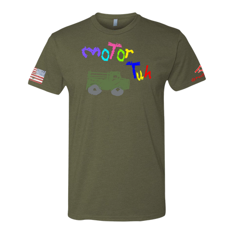 Image of MOTOR TUH-Crayon Shirt (OD OR CHARCOAL GRAY)