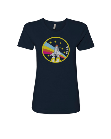 Image of NASA Rainbow Womens T-Shirt