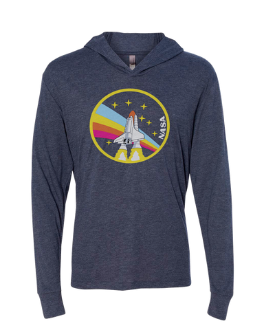 Image of NASA Rainbow Triblend Hoodie Tee