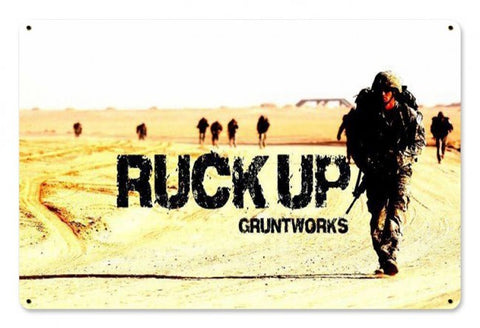 Ruck Up Metal Wall Sign
