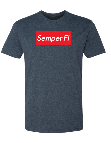 Image of Semper Fi  Logo Box T-Shirt