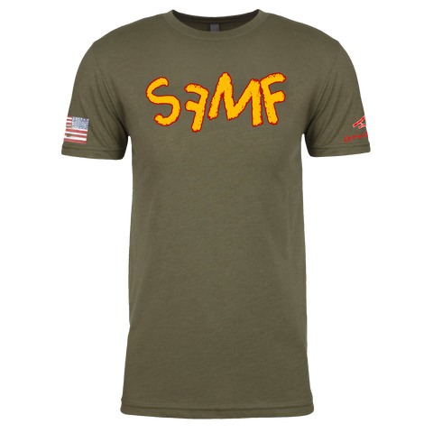 "Image of ""SFMF"" SEMPER FI, MUTHA FU*@#$ Crayon Shirt (OD OR CHARCOAL GRAY)"