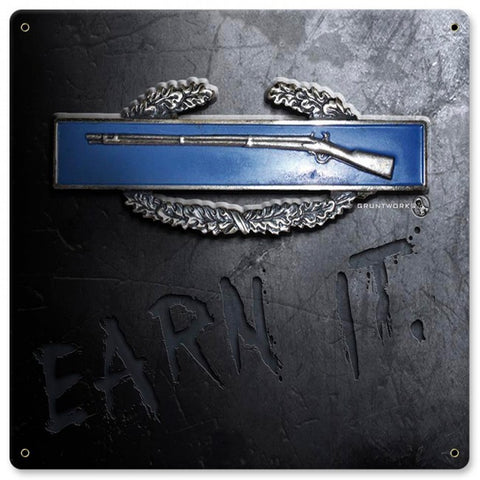 CIB Earn It Metal Wall Sign