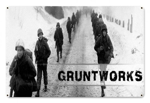 Gruntworks March Metal Wall Sign