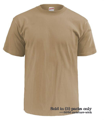 SOFFE 3-PACK MOISTURE WICKING TEE SHIRTS