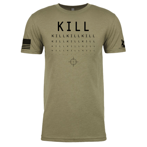 MIlitary Eye Chart - Kill Shirt