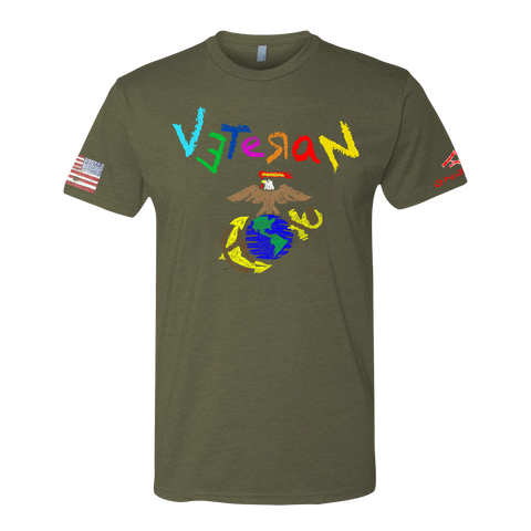 Image of Crayon- USMC Veteran T-shirt