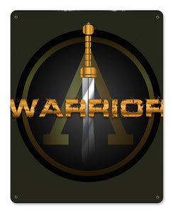 Warrior Metal Wall Sign