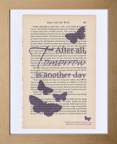 "Gone With the Wind print: ""Tomorrow is another day"""
