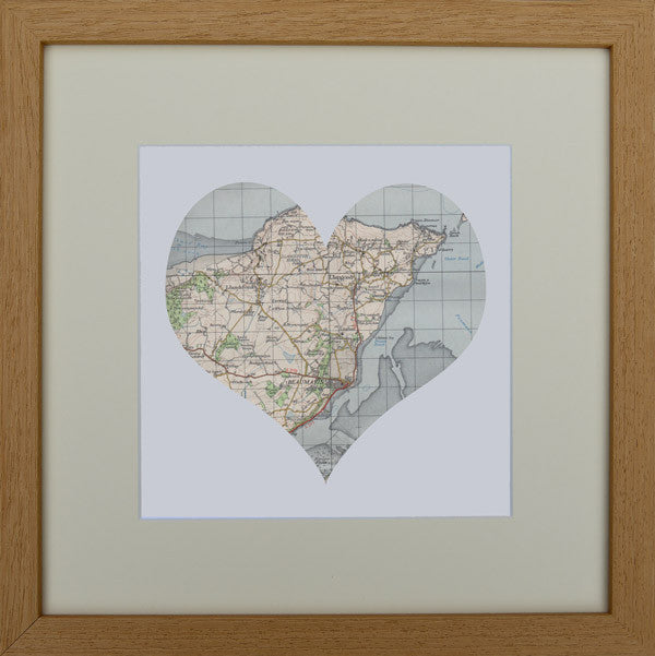 Beaumaris and Anglesey map art