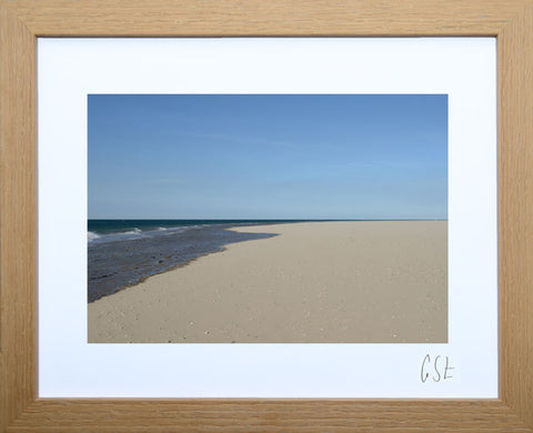 'Early morning on Aberdovey beach' print