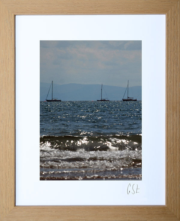 'Abersoch yachts in the sunshine' print