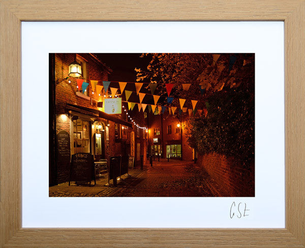 'Evening in Goose Green, Altrincham 1' print