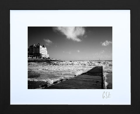 'Llandudno jetty on a choppy day' print