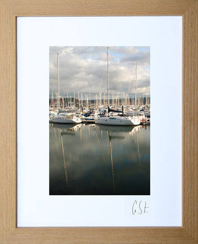 'Reflections in Conwy Marina' print