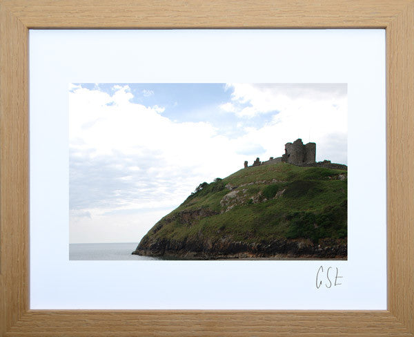 'Criccieth Castle after the rain' print