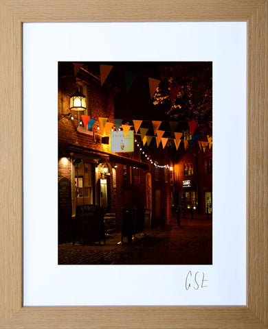 'Evening in Goose Green, Altrincham 2' print