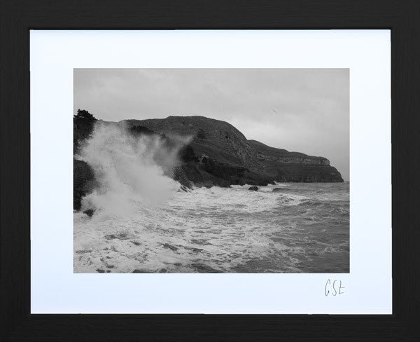 'The Orme in a storm' print