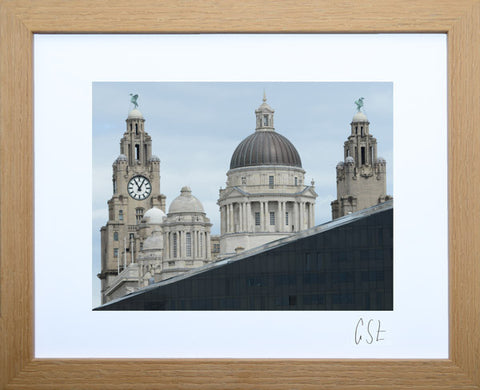 'Liverpool old and new' print