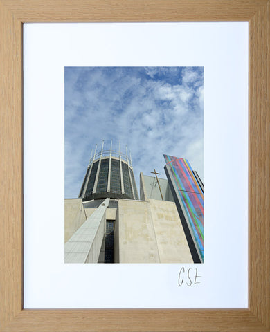 'Blue sky over Liverpool Cathedral' print