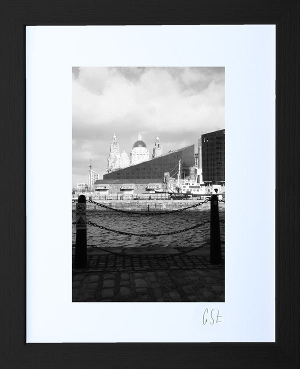 'Morning cobbles at the Albert Dock, Liverpool' print