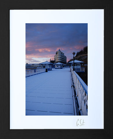 'Blue dawn on Llandudno Pier' print