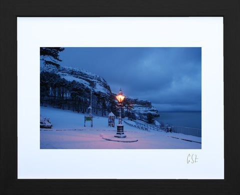 'Lantern in the snow' print