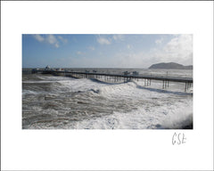 Picture of Llandudno Pier at high tide