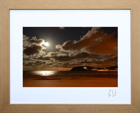 'Moonlight on Llandudno Bay' print