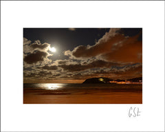 Picture of moonlight on Llandudno bay