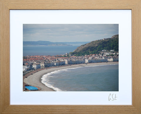 'View to Puffin Island and Llandudno' print