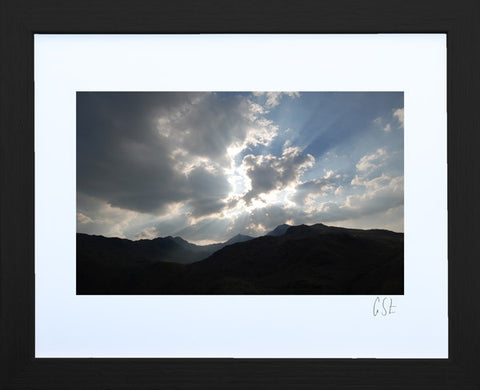 'Sunburst over Snowdon 1' print