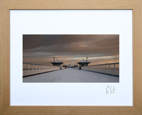 'Snow on Llandudno Pier' print