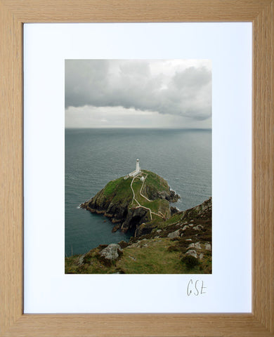 'South Stack lighthouse on a stormy day' print