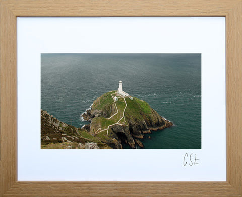 'Emerald sea at South Stack' print