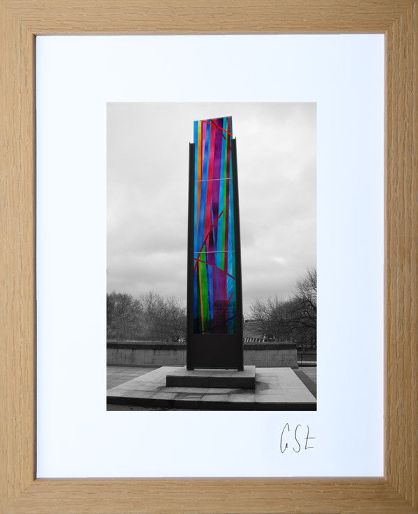 'Stained glass outside the Cathedral' print