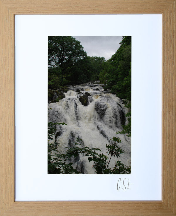 'Tumbling waters at Swallow Falls' print