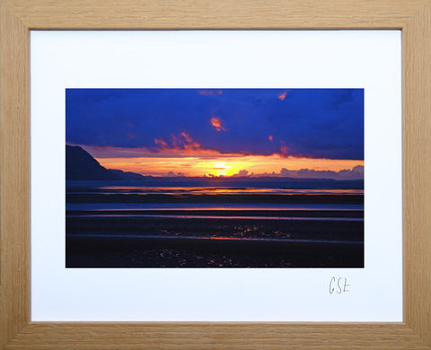 'West Shore sunset, Llandudno' print